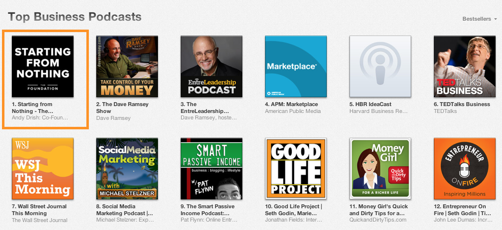 #1 Business Podcast in iTunes
